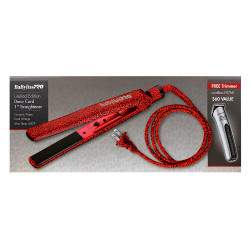 "Babyliss PRO Deco Cord 1"" Ceramic Flat Iron & Cordless Trimmer FX760"
