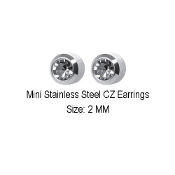 Studex Ear Piercing Diamond Stone MINI Studs 12 pack M204W