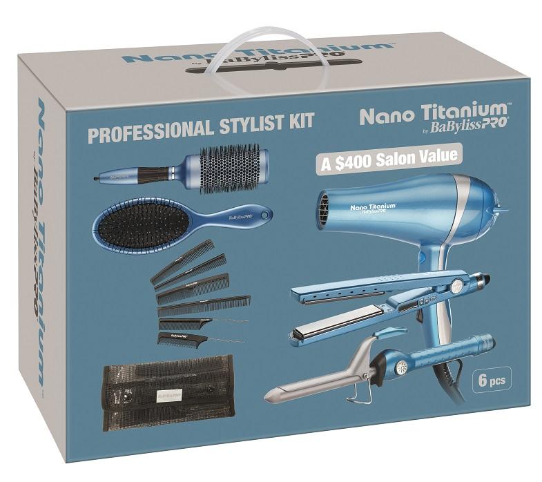 BaByliss Pro Nano Titanium Pro Stylist Kit BABSTYLEKIT 6 pcs Set