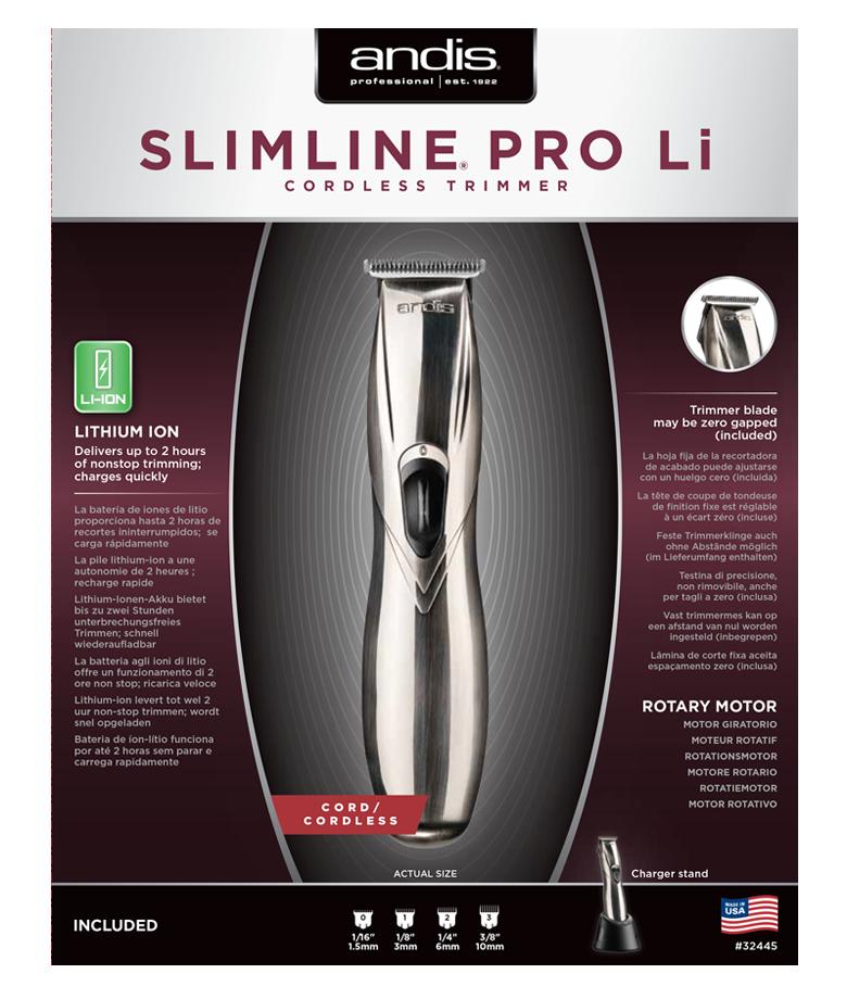 Andis SlimLine PRO Li Cordless T Blade Trimmer #32400