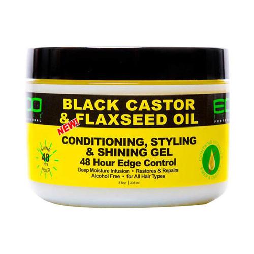 ECO Style Black Castor Oil & Flaxseed Oil 48 Hour Edge Control 8 oz