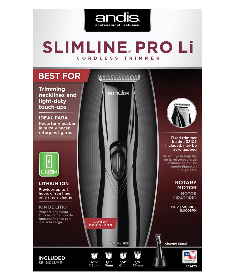 Andis SlimLine PRO Li Cordless Trimmer BLACK #32475