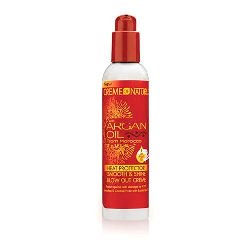 Creme of Nature Argan Oil Heat Protector Smooth & Shine Blowout Creme 7.6 oz