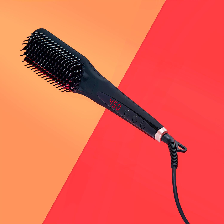 Amika iRed Polished Perfection Straightening Brush 2.0