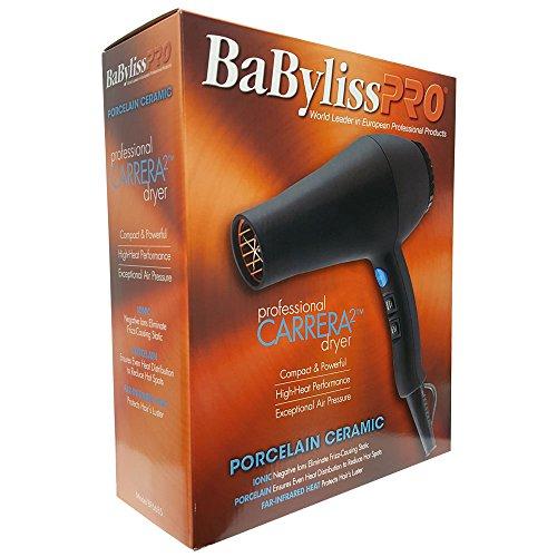 BaByliss Pro Porcelain Ceramic Ionic Carrera2 Hair Dryer