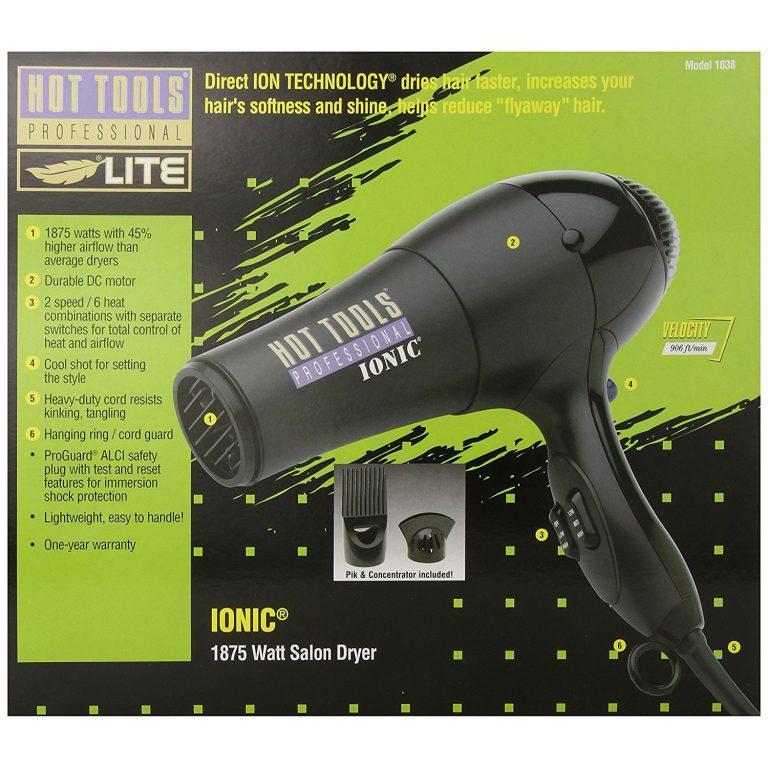 Hot Tools Professional 1875 Watt Anti-Static Hair Dryer 1038