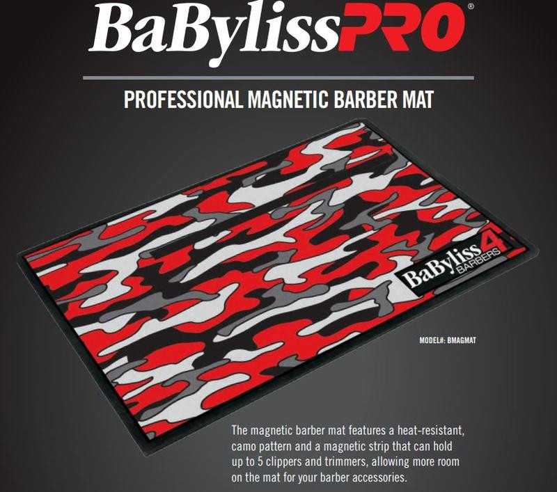 BaByliss Professional Barberology Magnetic Mats – Red Camo