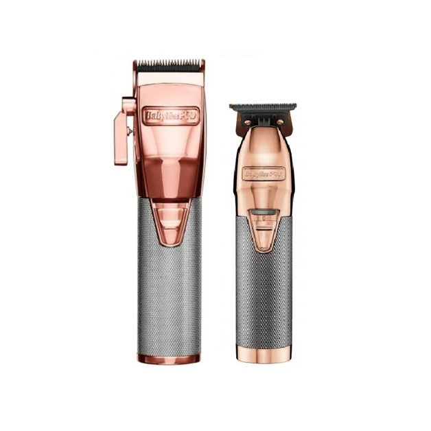 BaByliss Pro Rose Gold  FX870RG Clipper & FX787RG Trimmer Combo