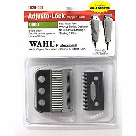 Wahl Professional 3-Hole Adjusto-Lock Clipper Blade Set 0000 1026-001