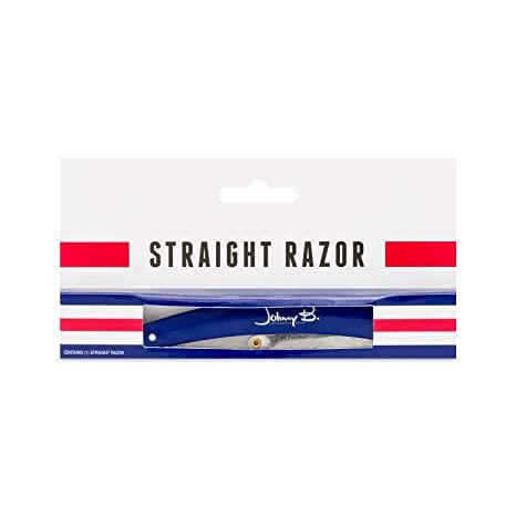 Johnny B. Authentic Straight Razor - Blue