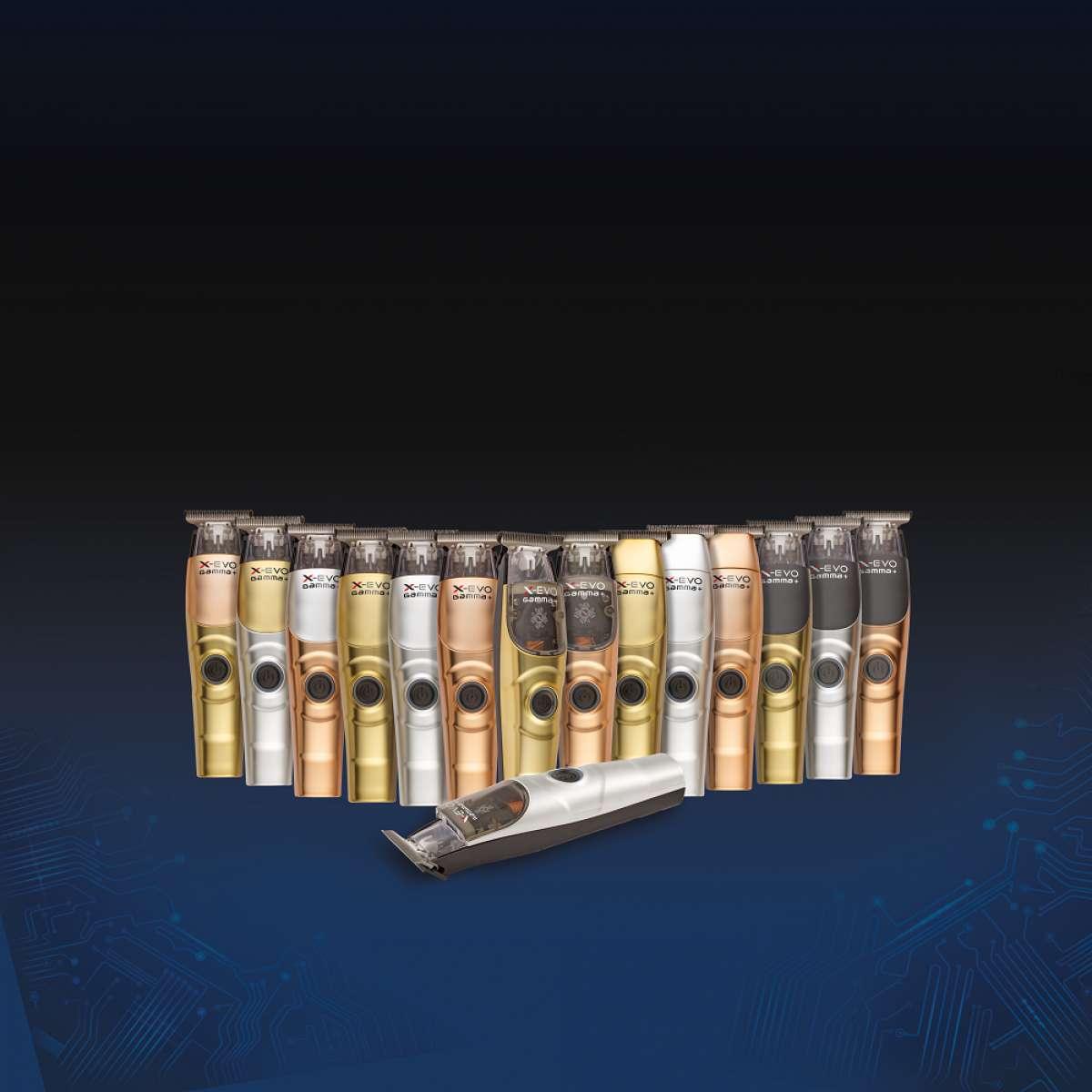 Gamma+ X-Evo Professional Modular Trimmer - Bronze, Silver, and Gold