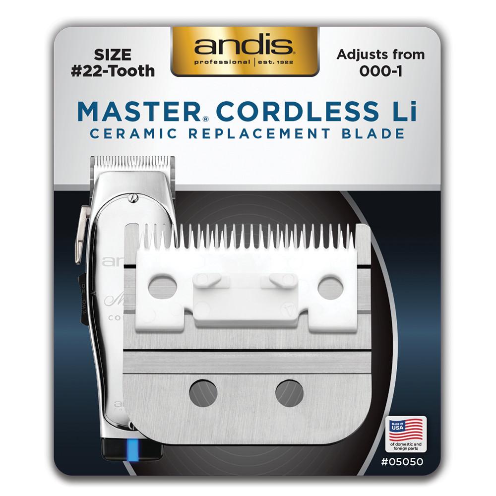 Andis Master Cordless Li Adjustable Ceramic Replacement Blade 05050