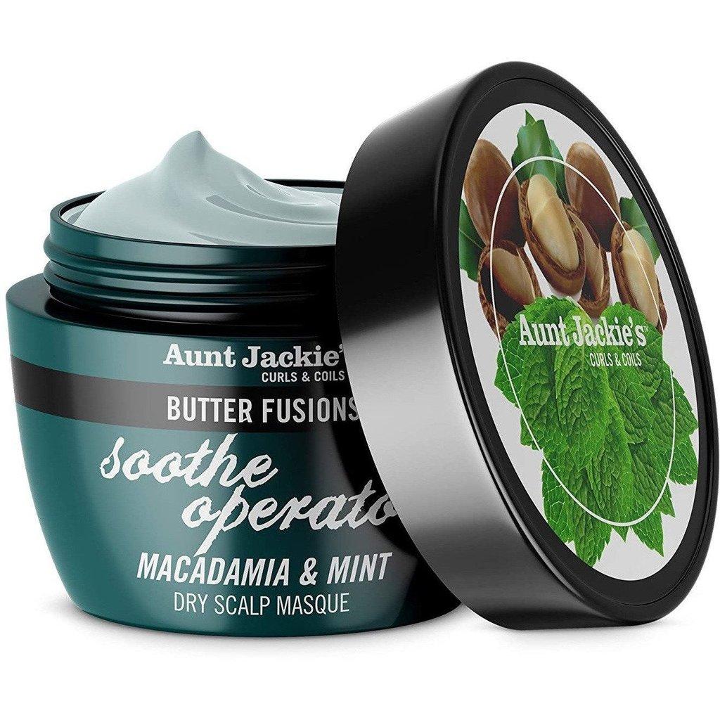 Aunt Jackie's soothe operator Dry Scalp Masque - Macadamia & Mint 8 oz