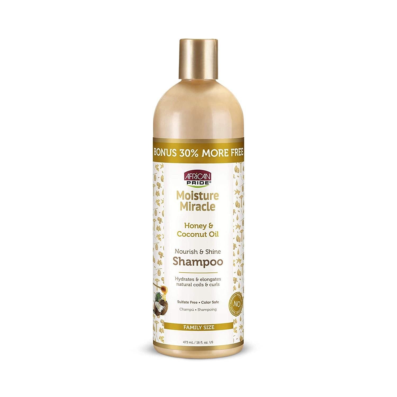 African Pride Moist Miracle Nourish & Shine Shampoo 16 oz