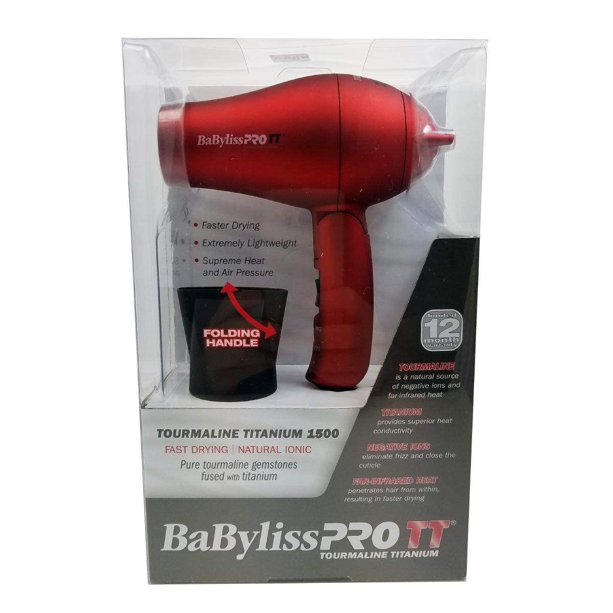 BaByliss®PRO TT Tourmaline Titanium Red Hair Dryer  1500