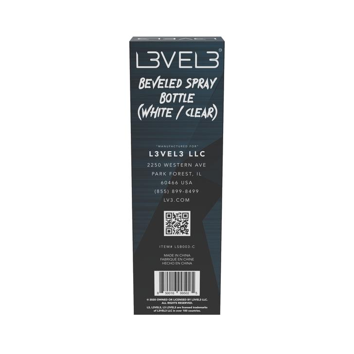 LEVEL 3 Beveled Spray Bottle - White/Clear