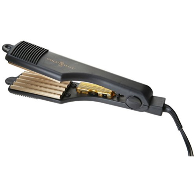 """GOLD N HOT Professional Gold-Tone Crimping Iron 2"""" GH3013"""