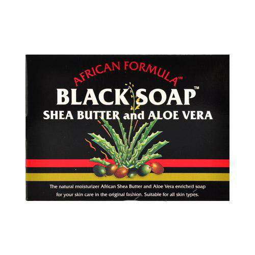 African Formula Black Soap with Shea Butter & Aloe Vera 3.5 oz