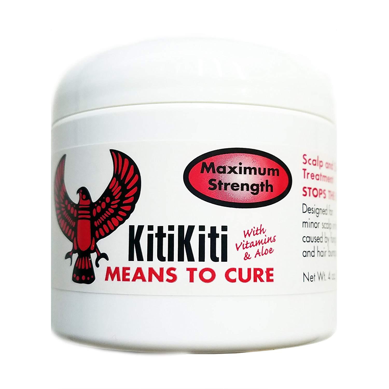 KitiKiti Scalp & Skin Treatment for Hair Bumps Maximum Strength Jar- 4oz