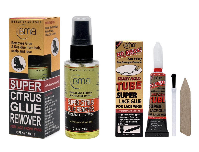 BMB Super Lace Glue Adhesive Tube & Citrus Glue Remover For Lace Wigs