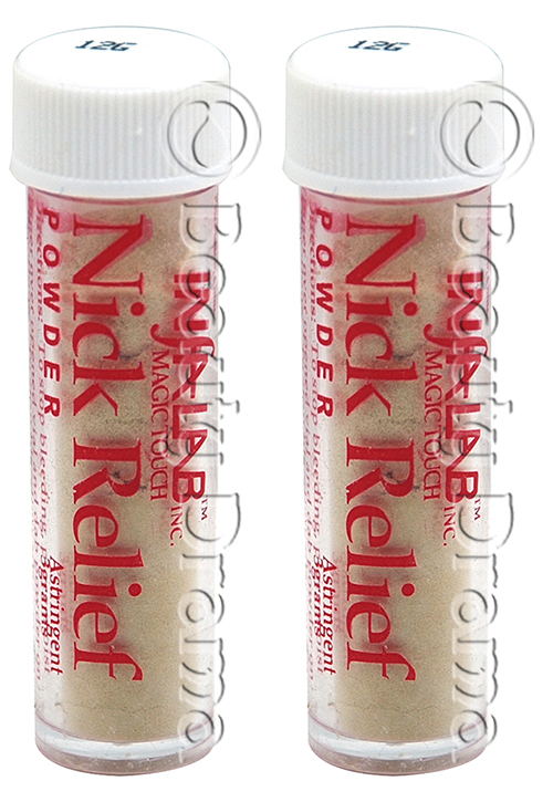 InfaLab Nick Relief Powder Styptic Astringent 2 pc Deal