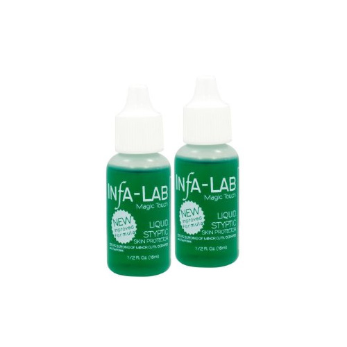 InfaLab Liquid Syptic Skin Protector Astringent Stops Minor Bleeding 2 pc Deal