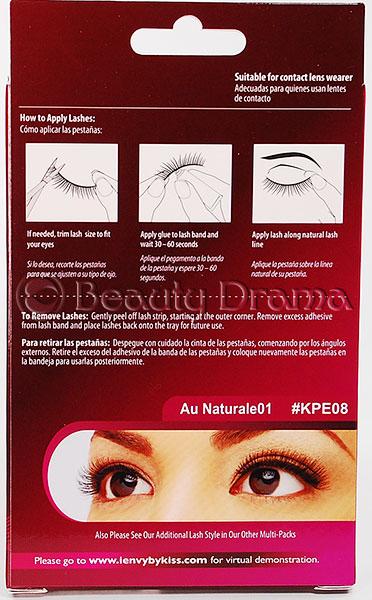 Kiss i ENVY Value Pack Human Hair Eyelashes-Au Naturale 08, KPEM08