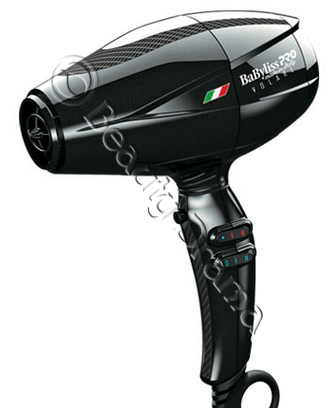BaByliss PRO Nano Titanium Volare® V2 Mid-Size Hair Blow Dryer Black