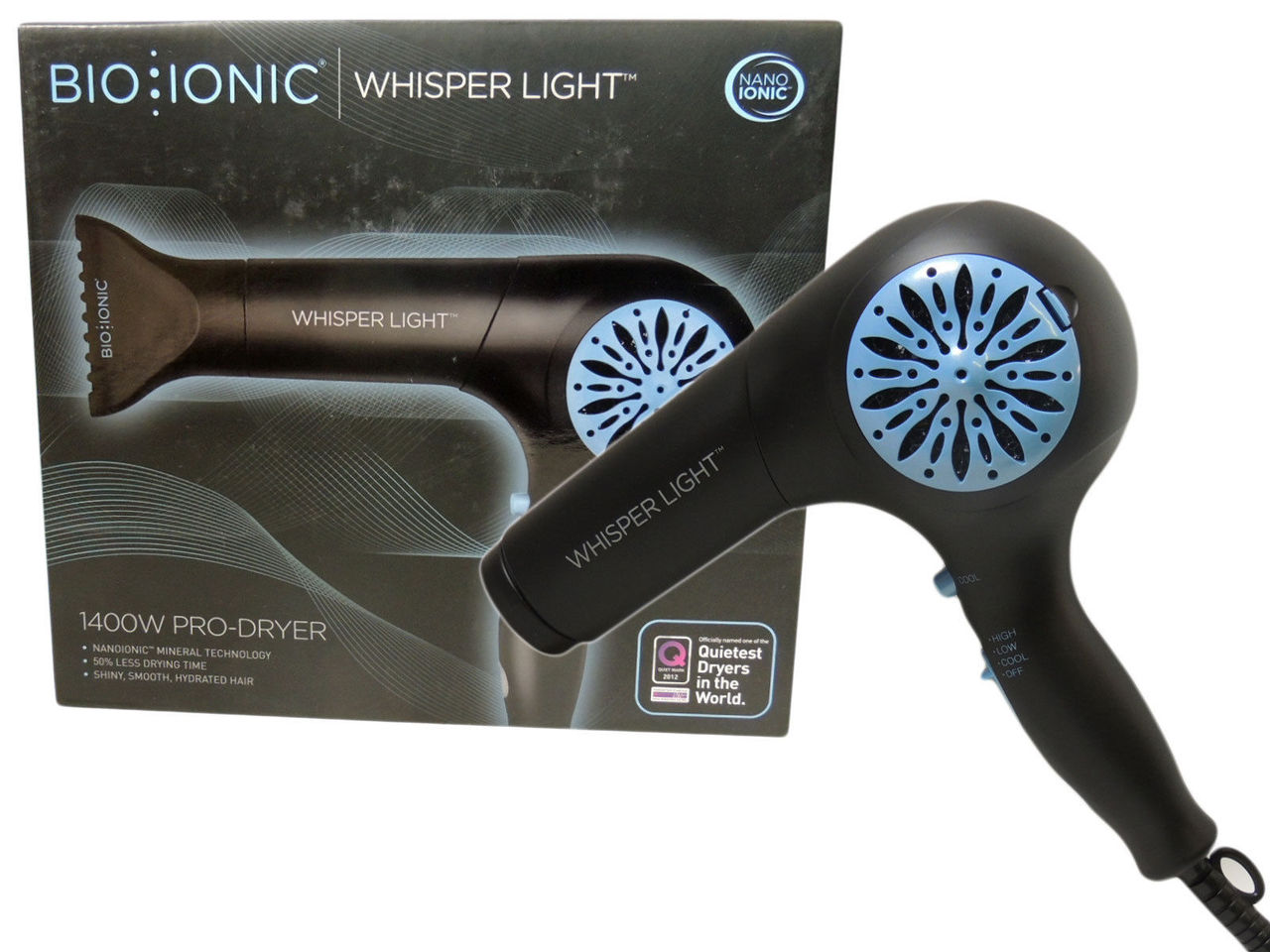 Bio Ionic Whisper Light Pro Blow Dryer Bi 3114