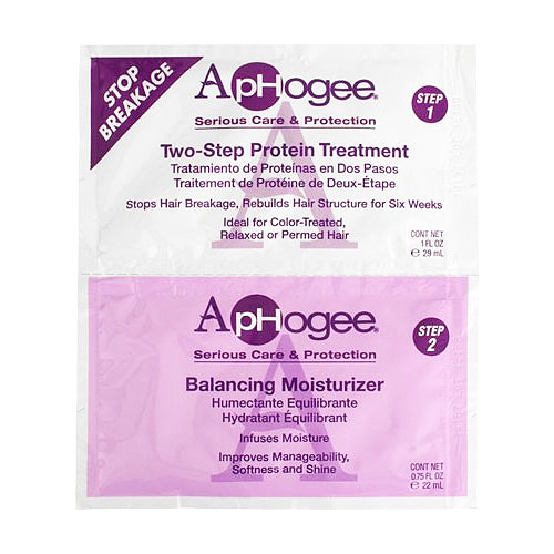 Aphogee Two-Step Protein Treatment & Balancing Moisturizer Twin Pack