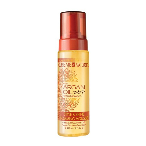Creme of Nature Argan Oil from Morocco Style & Shine Foaming Mousse 7 oz