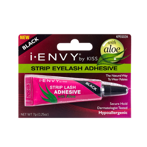 Kiss i ENVY Strip Eyelash Adhesive Glue with Aloe-Black, KPEG02A