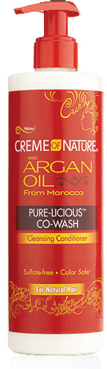 Creme of Nature Argan Oil Pure-Licious Co-Wash 12 oz