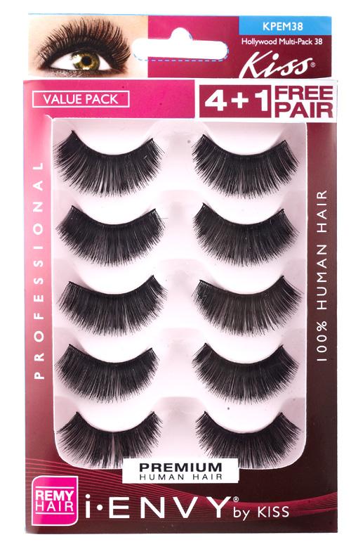 Kiss i ENVY Value Pack Human Hair Eyelashes-Juicy Volume, KPEM38