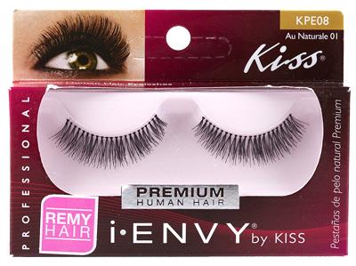 Kiss i ENVY 100% Human Eyelash Full Strip Au Naturale 01, KPE08