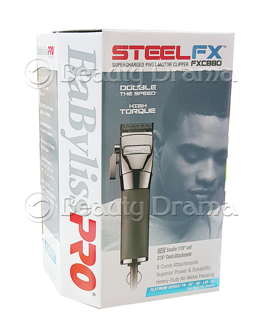 BaByliss PRO Steel FXC880 Supercharged Pivot Motor Clipper