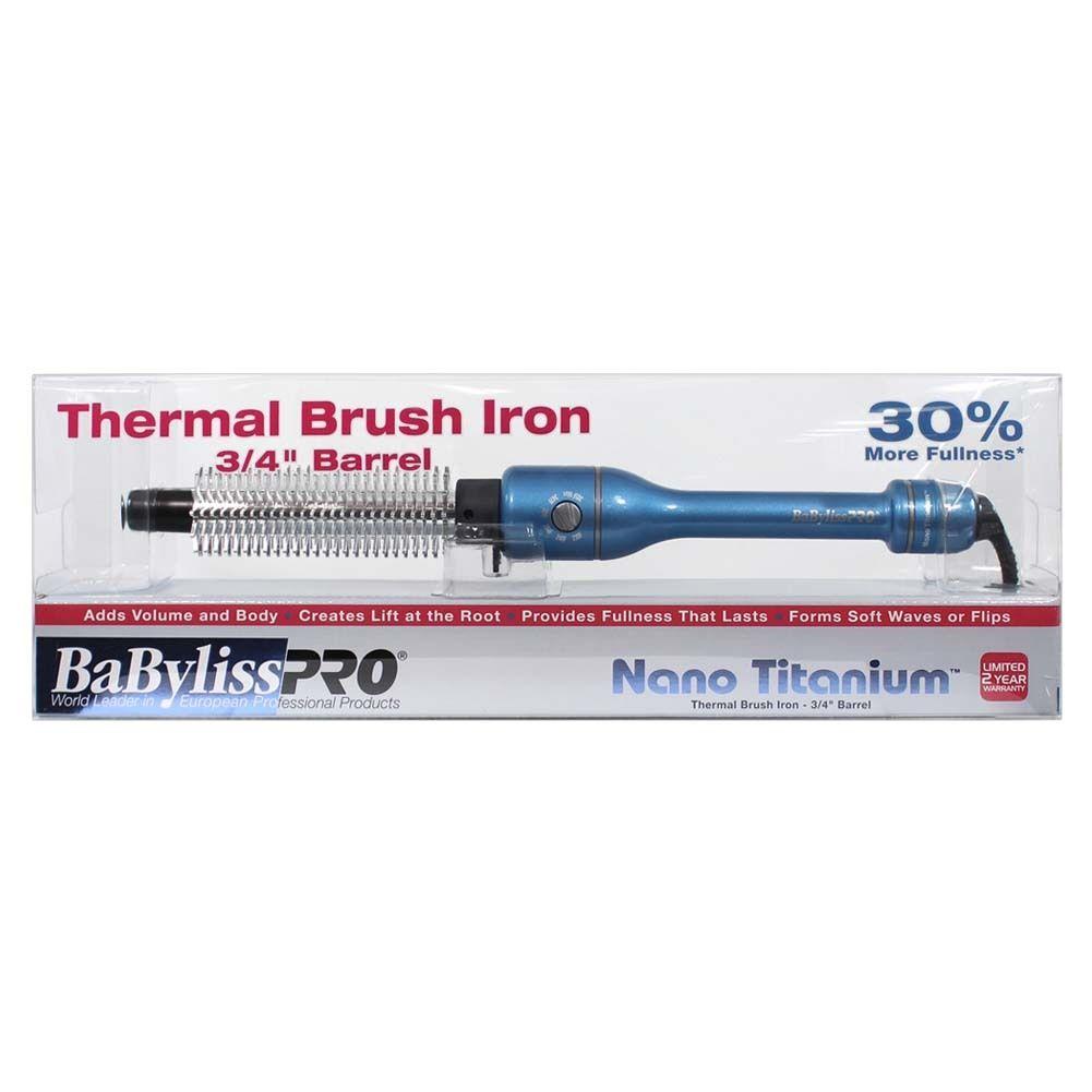 "BaByliss PRO Nano Titanium 3/4"" Thermal Brush Iron"
