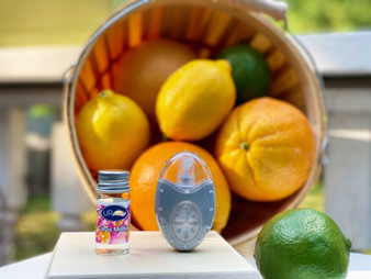 Splashes of fresh citrus juice and sweet Satsuma orange wedges are combined with nectars of ripe goji berri and island mango.