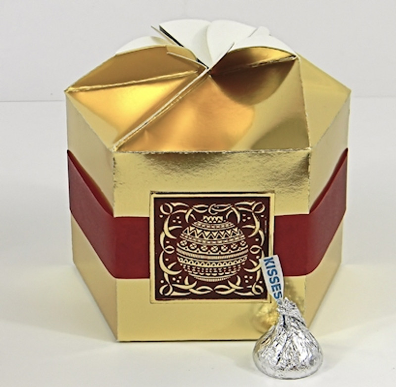 Large Petal Box Shown In Gold Foil Belt Foiol Seal Not Included
