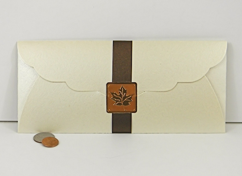 Certificate Envelope shown in Shimmering Ivory. Box Belt and Foil Seal not included.
