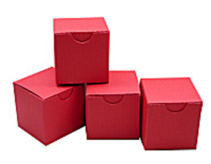 Mini Tuck Top Boxes in Textured Red.