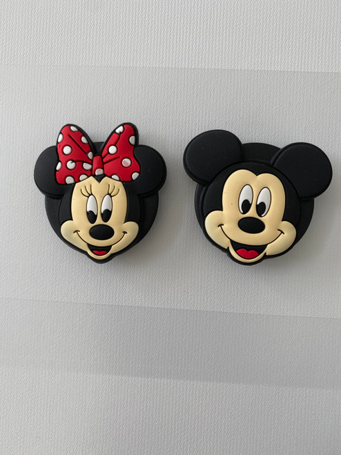 Matching Mickey and Minnie Pop Sockets