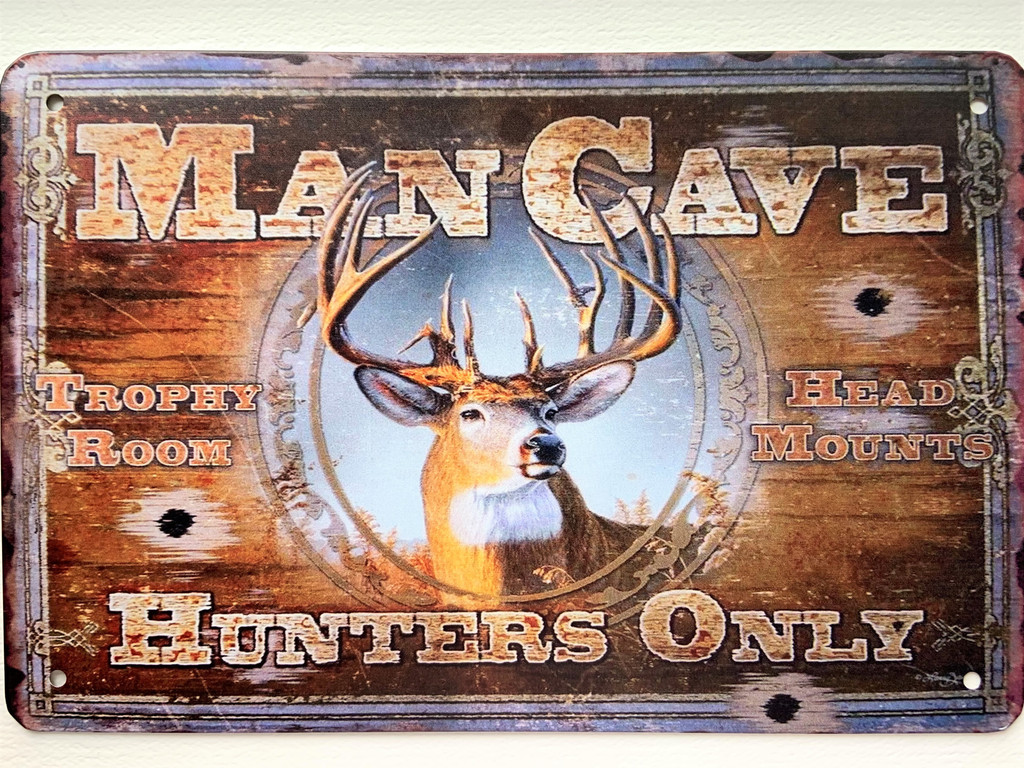 TS_D3020-1169 | Man Cave / Hunters Only | Vintage Tin Sign