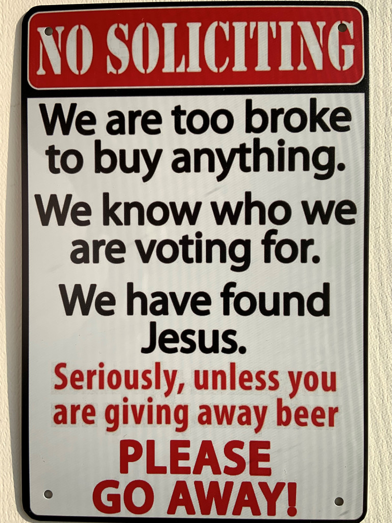 TS_2020-07-07-12   We Are Too Broke Too Buy Anything.... Please Go Away   Vintage Tin Sign