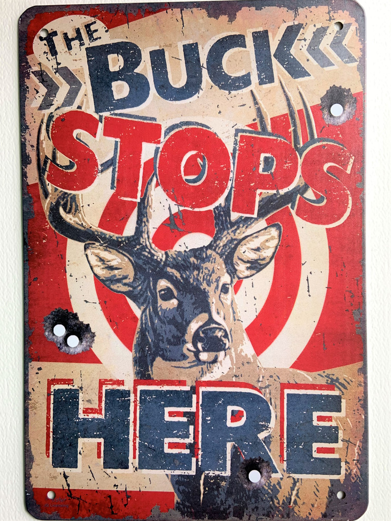 TS_2020-07-07-16 | The Buck Stops Here | Vintage Tin Sign