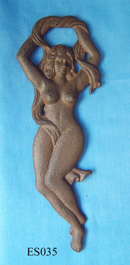 OPES035 - Antique Brown Nude Girl Bottle Opener