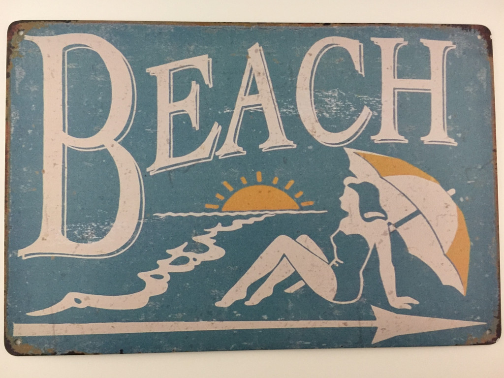 TSC_3564 - BEACH tin sign