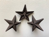 NS003_MC (Free Lower 48 Domestic Free Shipping 250 pc Case ) Rustic Cast Iron Small Nail Star.