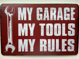 TS_D3020-273 | MY Garage MY Tools MY Rules | Vintage Tin Signs