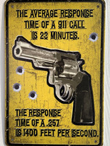 TS_2020-07-07-13 | The Average Response Time of 911 Call is 23 Minutes..... | Vintage Tin Sign